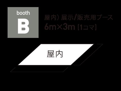 B)屋内 販売/展示ブース